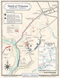 Mercer University Map Battle Of Princeton George Washington U0027s Mount Vernon