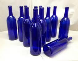 unique wine bottles for sale blue wine bottle etsy