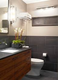 tiny bathroom design ideas in black and white with rustic dark