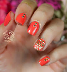 indian ocean polish studded flower and dots