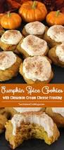 thanksgiving chocolate chip cookies pumpkin spice cookies with cinnamon cream cheese frosting two