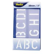 helix stencil lettering 50mm warehouse stationery nz