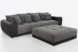 canapé 3 places canapé 3 places design noir gris foncé royal avec ottoman