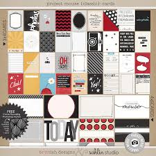 project mouse classic kit cards and freebies sahlin studio