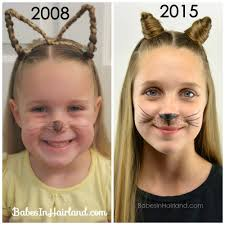 hairstyles to hide ears that stick out cat ears using your own hair 2 halloween hairstyle babes in