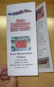 Upholstery Classes Michigan Complete Auto Upholstery Training Course Order Dvds
