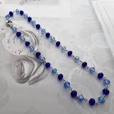 blue crystal necklace images Dark blue and light blue crystal necklace conscious crafties jpg