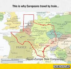 Funny Texas Memes - texas europe size comparison