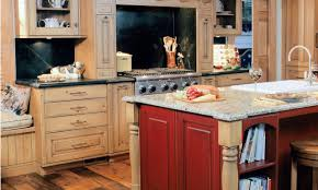 grey kitchen cabinets yellow walls dark red laminated wooden