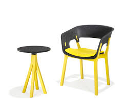 Grey Yellow Chair Uber Modern Grey Yellow Wood Chair Table Set Ambience Doré