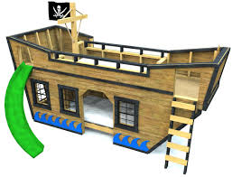 Pirate Ship Bed Frame Sea King Pirate Ship Bunk Bed Plan Pirate Ships Playhouses And