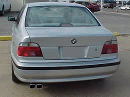 bmw e39 rear for installing e39 rear bumper and color matched side