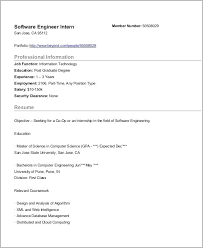 Format For Resume For Internship Sample Resume For Internship In Computer Science Resume And Cover