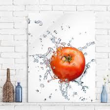 glasbilder küche glasbild küche frische tomate hoch 4 3 glasbild glasbilder