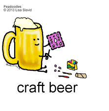 beer cartoon craft beer for international beer day peadoodles