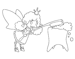 coloring page tooth fairy color online coloringcrew 761624