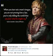 Tyrion Meme - tyrion lannister gamergate know your meme