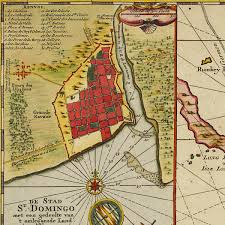 World Map Caribbean by Hispaniola Puerto Rico Bahamas 1729 Van Keulen Battlemaps Us