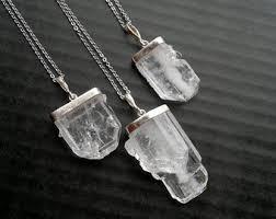 crystal quartz necklace pendant images Quartz pendant etsy jpg