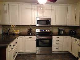kitchen tile backsplash ideas with white cabinets kitchen contemporary glass tile backsplash ideas for black