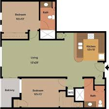 two apartment floor plans two bedroom apartment floor plans archives edge on apartments