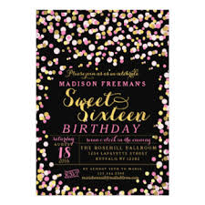 Pink And Black Sweet 16 Decorations Sweet 16 Pink Gold Black Gifts On Zazzle