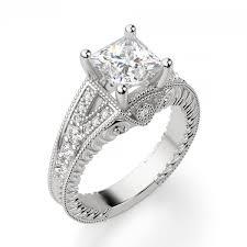 princess cut engagement ring valencia princess cut engagement ring