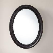 mirrored surface mountcine cabinet signature hardware round