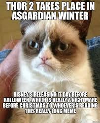 Nightmare Before Christmas Meme - grumpy cat thor 2 takes place in asgardian winter disney s