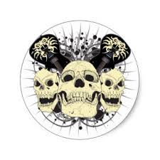 skull guitar stickers zazzle