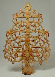 folk antique mexican tree of bedroom