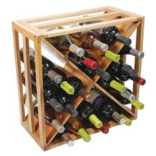 awesome true crisscross wooden 24 wine bottle rack everything
