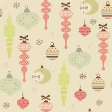 commercial wrapping paper printable seamless christmas ornament pattern vintage style