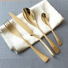 popular cutlery sets gold buy cheap cutlery sets gold lots from