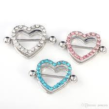 with nipple rings images Best mix colors heart nipple piercing nipple rings jewelry jpg