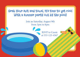 pool party birthday invitation wording redwolfblog com