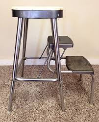 vintage step stool ames maid metal industrial kitchen chair mid