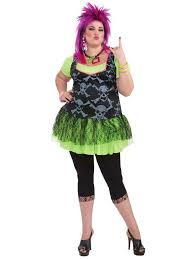 Mens Size Halloween Costumes Women U0027s 80 U0027s Punk Size Costume Size Halloween Costumes