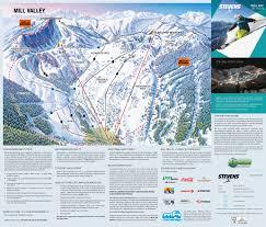 Map Of Leavenworth Wa Stevens Pass Washington Ski Resort Trail U0026 Ski Map