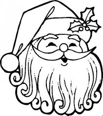 face of santa claus coloring pages coloringstar