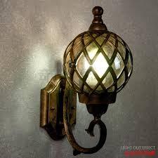 Bronze Landscape Lighting - moistureproof vintage ball shape wall lamp bronze outdoor porch