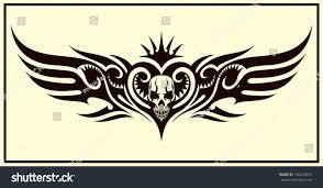 wings tribal tattoo stock vector 130224875 shutterstock