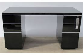 Black Office Desk Office Desk Black Gloss Lacquer H79cm W150cm D74cm Rrp