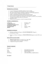 cover letter software testing resume samples software testing