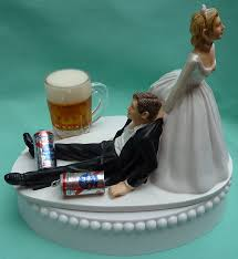 dragging groom cake topper wedding cake topper pabst blue ribbon pbr mug cans