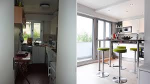 avant après ouvrir une cuisine sur le salon pour rééquilibrer