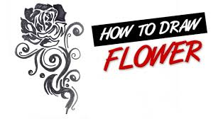 how to draw a rose flower tribal tattoo design ep 144 youtube