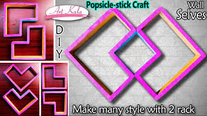popsicle stick wall shelves wall decor popsicle stick crafts