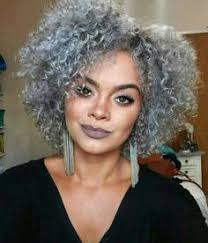 african american silver hair styles natural curly hairstyles for african american womens short