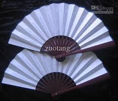 diy fans 2018 blank white silk folding fans diy program